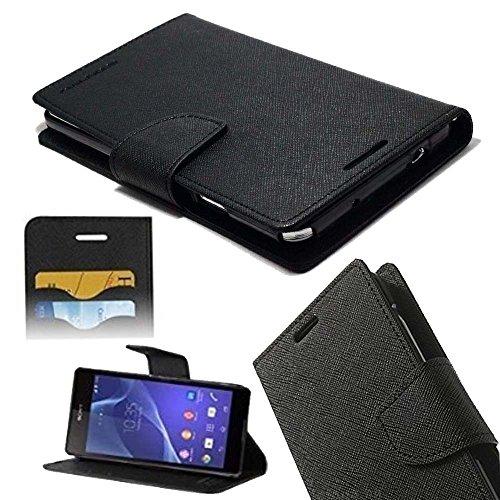 ORC - Sony Xperia M Flip Cover - Luxury Mercury Diary Wallet Style, Flip Cover for Sony Xperia M (Black)