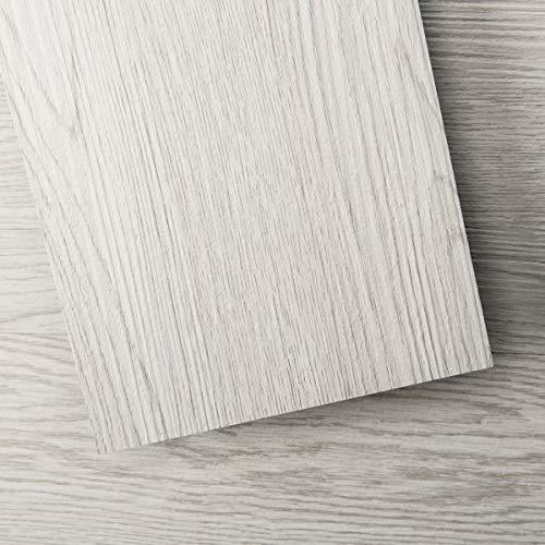 Art3d Peel and Stick Floor Tile Vinyl Wood Plank 54 Sq.Ft, White-Washed, Rigid Surface Hard Core Easy DIY Self-Adhesive Flooring