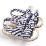 Aiyrchin Baby-Sandalen Schöne weiche Baumwoll öffnen Zehe-Anti-Rutsch-Sohle Sommer-Schuhe für 6-12 M Kleinkinder Lila