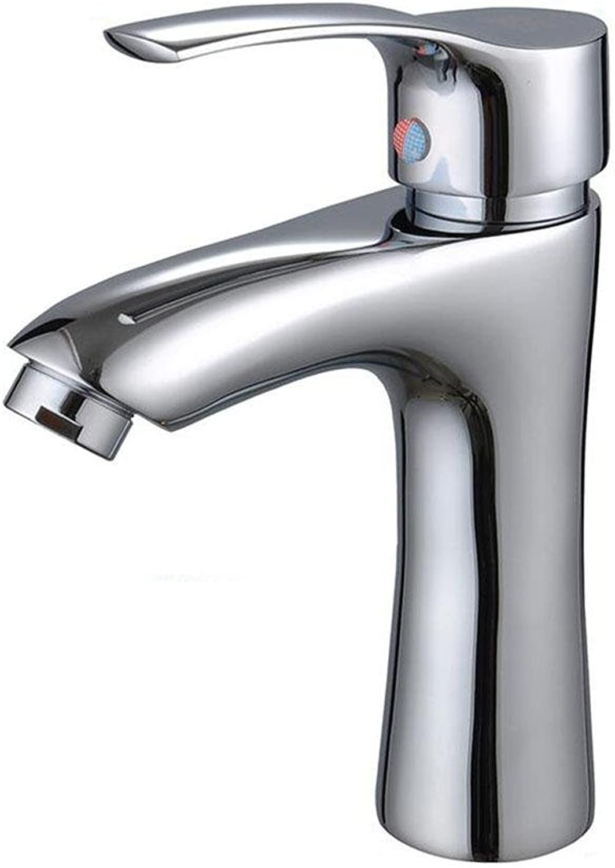 SHIQUNC Water tap Bathroom Sink Washroom Basin Faucet Single hole Chrome Brass Mixer Tap
