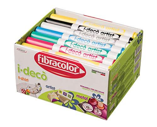 Fibracolor I-Deco' Artist school pack 42 Filzstifte Grobtinte Gel für Dekorationen