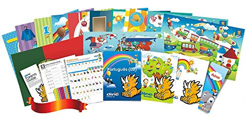 Compare Textbook Prices for European Portuguese Poster and Book Set for Kids  ISBN 9781535726023 by Dino Lingo