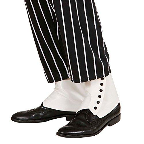 Ghette bianche in simil pelle copri scarpe da gangster anni 20