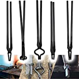 5 Pcs Knife Making Bolt Tongs Set Knife Tongs Tools Assembled Knife Making Blacksmith Bladesmith Anvil Forge