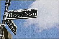 HDニューオーリンズルイジアナ-バーボンストリートサイン-写真A-9572595725(19x27の大人のためのプレミアム1000ピースジグソーパズル)