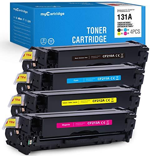 MyCartridge Kompatibel HP 131A CF210A- CF213A Toner für HP LaserJet Pro 200 Color MFP M276nw M276n M251n M251nw (Schwarz/Cyan/Magenta/Gelb)