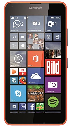 Microsoft Lumia 640 XL Single-SIM Smartphone (14,5 cm (5,7 Zoll) Touch-Display, 8 GB Speicher, Windows 8.1) orange