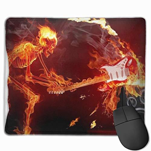 Mauspad rutschfeste Gummi-Gaming-Mauspad, Skelett und Gitarre