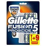 Gillette Fusion 5 Proglide Rasoir Homme + 9 Lames de Recharges [OFFICIEL]