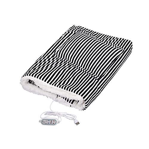 AISHANG Manta de Tiro con calefacción, 5V 2A, Chal con calefacción de Carga USB Lavable, Temperatura eléctrica Ajustable, Manta de Tiro Suave y cálida, Adecuada para la Silla de Oficina o sofá