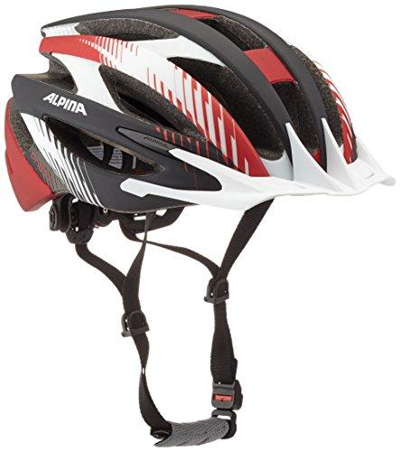 ALPINA Fahrradhelm PheoX LE, Black/White/Red, 50-55 cm
