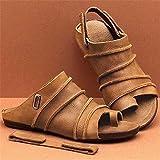 TCWDX Pantofole correttive Sandali Donna Open Toe Scarpe ortopediche Sandali Piatti a Bocca di pesce Pantofole in Velcro rimovibili Scarpe aperte con Tacco da spiaggia estiva