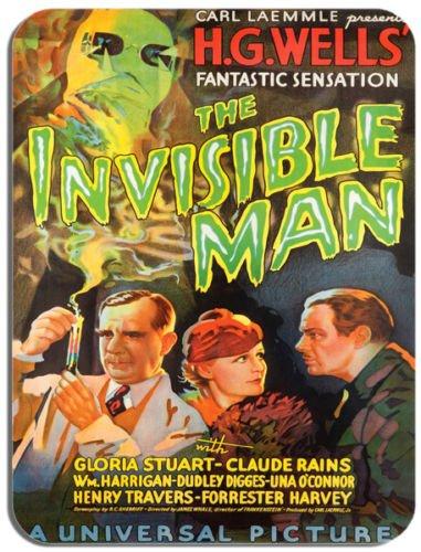 Il invisibile uomo vintage poster del film del mouse. HG Wells horror Movie mouse pad