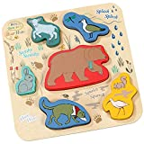 We're Going On a Bear Hunt Wooden Shape Puzzle - Wooden Toys and Games for Babies and Toddlers by Rainbow Designs
