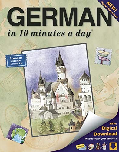 GERMAN in 10 minutes a day: Language course for beginning and advanced study. Includes Workbook, Flash Cards, Sticky Labels, Menu Guide, Software, ... Grammar. Bilingual Books, Inc. (Publisher)