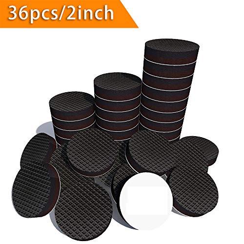 Magiin 36Pcs Almohadillas Adhesivas de Caucho a Prueba de Golpes para Patas de Mesas y Sillas Protectores de Suelo para Muebles