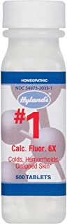 Hemorrhoid Treatment, Homeopathic Relief of Hemorroids, Colds, and Chapped Lips, Hyland's #1 Cell Salt Calcarea Fluorica 6...