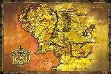1art1 Der Herr Der Ringe - Landkarte Von Mittelerde Poster