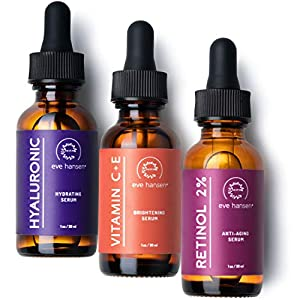Anti aging products Eve Hansen Anti-Aging Serum Set | Vitamin C Serum, Hyaluronic Acid Serum, Retinol Serum | Brightening Serum, Anti…
