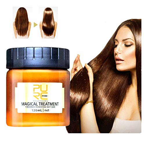 99AMZ Magical Treatment Mask 5 Seconds Repairs Damage Restore Soft Hair 60ml/120ml for All Hair Types Keratin Hair & Scalp Treatment Mascarilla para el Pelo Profesionales para Dañado Cabello (A-120ML)