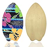 eBodyboarding Wooden 37Inch Skimboard for Kids and Adults - Aloha