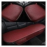 PIAO piaopiao Seggiolino Auto Copre 4 Stagioni Premium PU Cuoio Cuscino Cuscino Cuscini Singoli Cuscini automobilistici, E1 x40 (Color Name : Red 1set)