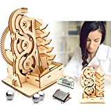 Solar 3D Wooden Puzzle Marble Run DIY Model Kit Craft Sets Educational Wood Mechanical Building Toys STEM Science Experiments Projects Birthday Gift for Adult Men Kids Age 8 10 12 14+