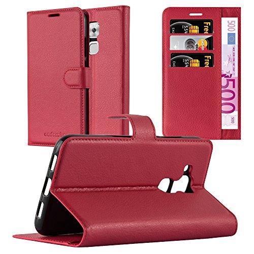 Cadorabo Funda Libro para Huawei Nova Plus en Rojo Carmin – Cubierta Proteccíon con Cierre Magnético, Tarjetero y Función de Suporte – Etui Case Cover Carcasa