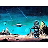 Wee Blue Coo Movie Film Painting Robby Robot Forbidden