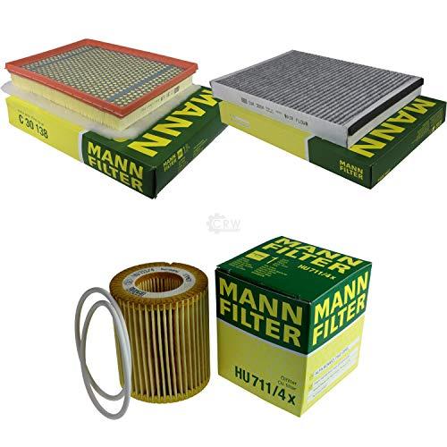 MANN-FILTER Inspektions Set Inspektionspaket Innenraumfilter Luftfilter Ölfilter