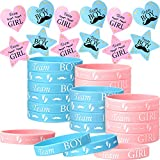 48 Pieces Gender Reveal Bracelets and 80 Pieces...
