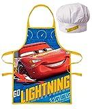 Disney Cars Lightning McQueen - Grembiule da cucina con cappello (3-6 anni)
