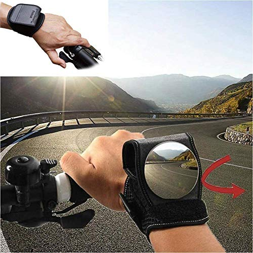 Bike Mirrors, Bicycle Rear View Mirror for Cyclists Safety Mountain Road Bike Riding Cycling Accessories, Motorbike Handlebar Reflector Wristband Wrist Mirror for Commuter Kid Birthday Gift Gadget