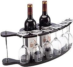 HTTJJ Wooden Tabletop Independent Wine Rack,Grape Racks,Wine Cup Display Racks,Vertical Storage Perfect Wine Rack,Wine Cel...