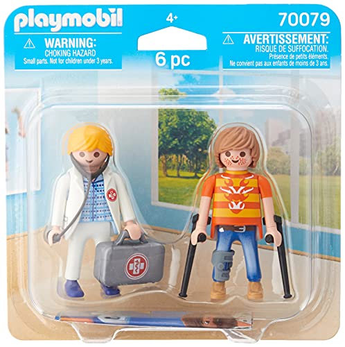 PLAYMOBIL- Duo Pack Duopack Doctora y Paciente, Multicolor (70079)