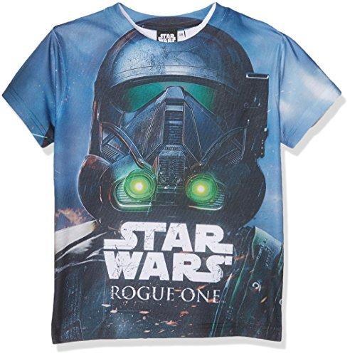 Star Wars Jungen Death Trooper Head Shot T-Shirt, blau, 9-10 Jahre (134/140 cm)