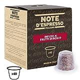 Note D'Espresso - Cápsulas de tisana de frutas del bosque exclusivamente compatibles con cafeteras Nespresso*, 3g (caja de 40 unidades)