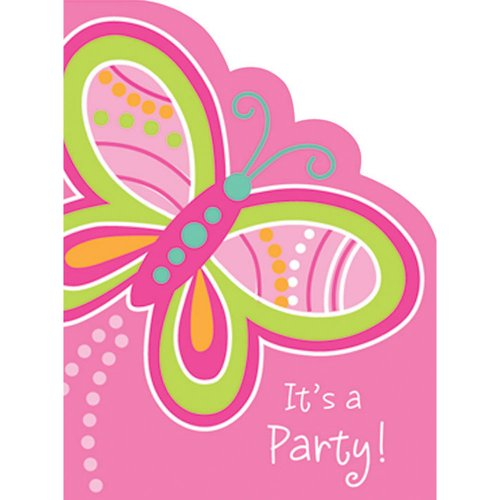Creative Converting Mod Butterfly Invites - 8 ct