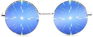 نظارات GloFX Limited Edition Specialty Diffraction - Rave Eyes Party Club 3D Trippy (أزرق)