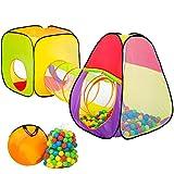 TecTake Tente de Jeux pour Enfants | Pop Up Tente | INCL. 200 balles + Sac | -diverses modèles-...
