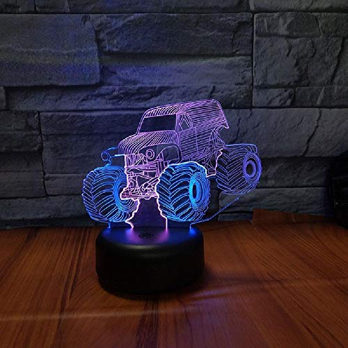 3 Color ATV Novelty Table Lamp 3D Night Lights Led USB 7 Colors Touch Sensor Desk Lamp As Holiday Gifts Home Decoration