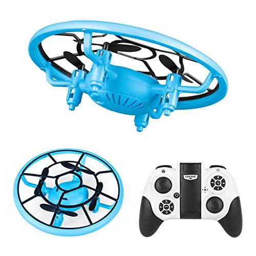NONGLAN Drone Rc con Luci Brillanti Altitudine Hold 360 Rotante Rc Volare Giocattoli Easy Flying Rc Quadcopter Drone Rtf per Kid(Color:Blu)