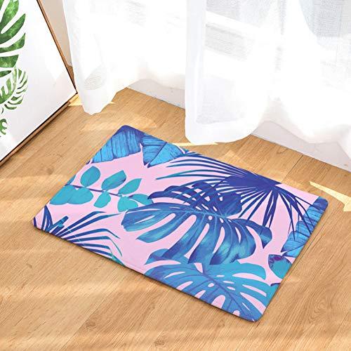ZXCVWY Deurmat Tropische Dieren Entry Hallway Mat Banaan Plant Voordeur Tapijt Thuis Versier Magnolia Koraal Fleece Tapijt