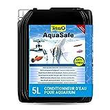 TETRA AquaSafe - Conditionneur d'Eau Naturel pour Poissons tropicaux -Agit en 5 mn - Eau Douce et Eau de Mer - Anti-Chlore - 5 L