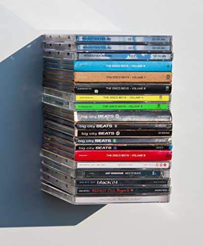 3er Set CD Regal CD Turm unsichtbar schwebend Clever Wohnzimmer Gadget neu