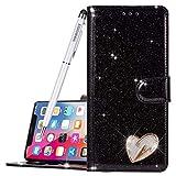ZOOMALL Zoomalleu Coque Bling Paillettes [Fermeture magnétique] PU Cuir Flip Wallet pour iPhone...
