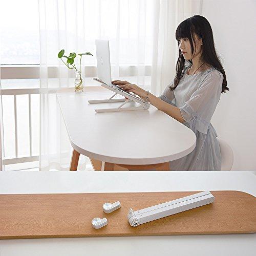 TATE GUARD Laptop Ständer, Multi-Winkel verstellbar, Höhe einstellbar, Klappbar Stand, für 10 bis 17.3 Zoll Kompatibel mit m'acbook/Tablet/Tab Laptop PC, 2017 Microsoft Surface Pro,Weiß