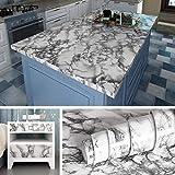 Livelynine Papel pintado de mármol extraíble de 15.8 x 197 pulgadas de despegar y pegar encimeras de granito Papel de pared autoadhesivo de vinilo de mármol para decoración de baño