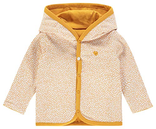 Noppies Baby - Jungen Strickjacke Cardigan Jersey Joke mit Kunstpelz gefüttert (Honey Yellow, 74)