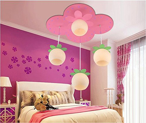 Lily's-uk Love LED Eye Care Chambre pour enfants Lustres Princess Girls Room Chambre lumières Creative Cartoon Cute Lighting